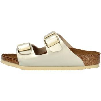Schuhe Mädchen Pantoffel Birkenstock 1014841 Platin
