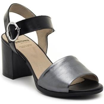 Schuhe Damen Sandalen / Sandaletten Dorking D8174-LATQ Schwarz