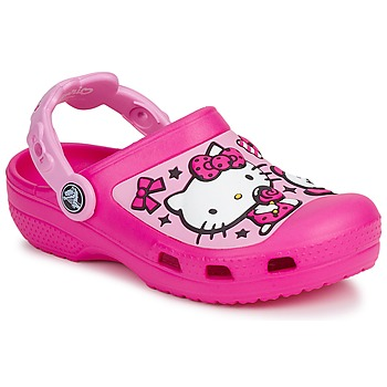 Schuhe Mädchen Pantoletten / Clogs Crocs HELLO KITTY CANDY RIBBONS CLOG Rose