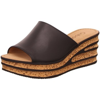 Schuhe Damen Pantoletten / Clogs Gabor Pantoletten 44.650.27 schwarz