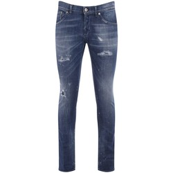 Kleidung Herren Slim Fit Jeans Dondup Jeans Richie Blau mit Rissen Blue