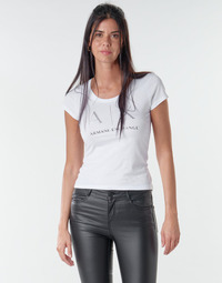 Kleidung Damen T-Shirts Armani Exchange 8NYT83 Weiss