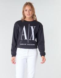 Kleidung Damen Sweatshirts Armani Exchange 8NYM02 Schwarz