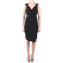Kleidung Damen Kurze Kleider Hanita H.V2469.2665 Kleid Damen schwarz schwarz