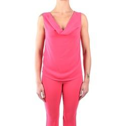 Kleidung Damen Tops / Blusen Hanita H.M2060.2679 Ärmellos Damen Rosa Grapefruit Rosa Grapefruit