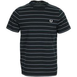 Kleidung Herren T-Shirts Fred Perry Fine Stripe T-shirt Blau