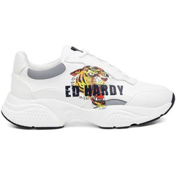Schuhe Herren Sneaker Low Ed Hardy - Insert runner-tiger-white/multi Weiss