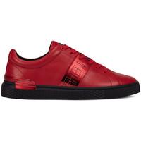 Schuhe Herren Sneaker Low Ed Hardy - Stripe low top-metallic red/black Rot