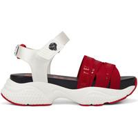 Schuhe Damen Sandalen / Sandaletten Ed Hardy - Overlap sandal red/white Rot