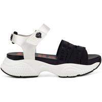 Schuhe Damen Sandalen / Sandaletten Ed Hardy - Overlap sandal black/white Weiss