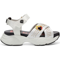 Schuhe Damen Sandalen / Sandaletten Ed Hardy - Flaming sandal white Weiss