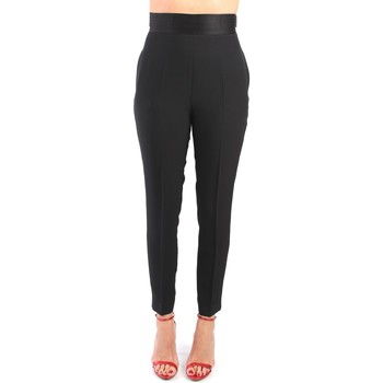 Kleidung Damen Cargo Hosen Simona Corsellini P20CPPA019 Pantalone Damen schwarz schwarz