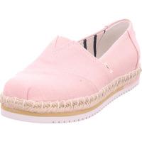 Schuhe Damen Leinen-Pantoletten mit gefloch Toms - 10015350 pink