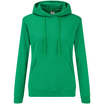 Kleidung Damen Sweatshirts Fruit Of The Loom 62038 Grün meliert