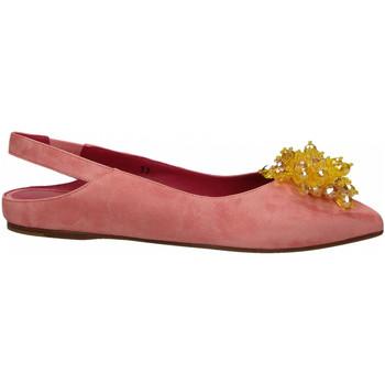 Schuhe Damen Ballerinas 181 GAROFANO CAMOSCIO rosa