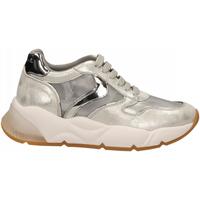 Schuhe Damen Sneaker Low Voile Blanche SHEELMESH argento-nichel