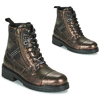 Schuhe Damen Boots Pepe jeans MELTING TAPE Bronze