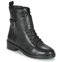 Schuhe Damen Boots Pepe jeans MALDON LOGO Schwarz