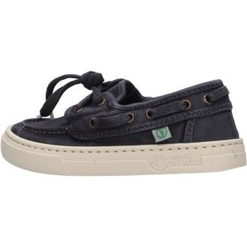 Schuhe Jungen Bootsschuhe Natural World - Sneaker blu 6473E-677 BLU