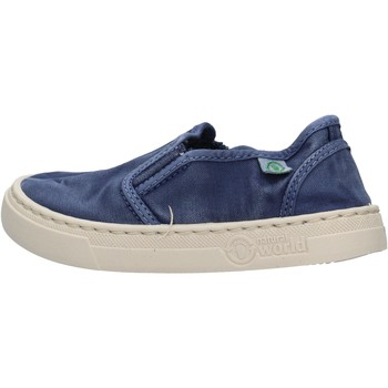 Schuhe Jungen Slip on Natural World - Slip on  blu 6472E-628 BLU