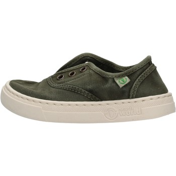 Schuhe Jungen Sneaker Low Natural World - Sneaker verde 6470E-622 VERDE