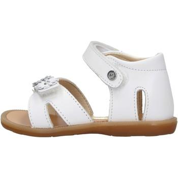 Schuhe Mädchen Sandalen / Sandaletten Naturino - Sandalo bianco NYMERIA-0N01 BIANCO