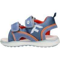 Schuhe Jungen Sandalen / Sandaletten Falcotto - Sandalo celeste/arancione ATALYN-1C52 CELESTE