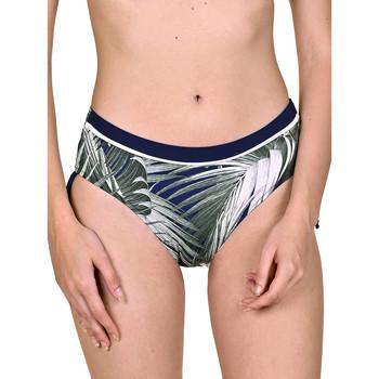 Kleidung Damen Bikini Ober- und Unterteile Lisca Verstellbare seitliche Badeanzug-Strümpfe Buenos Aires Blau