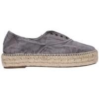 Schuhe Herren Leinen-Pantoletten mit gefloch Natural World 687E  623 Mujer Gris gris
