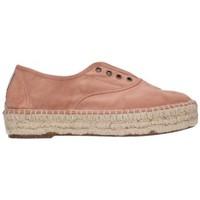 Schuhe Herren Leinen-Pantoletten mit gefloch Natural World 687  531 Mujer Nude rose