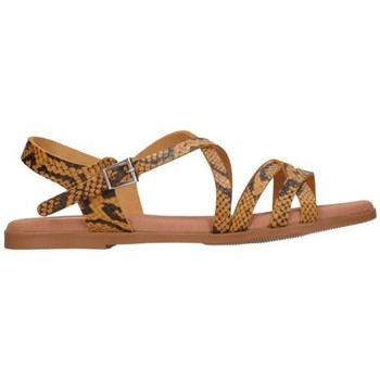 Schuhe Damen Sandalen / Sandaletten Oh My Sandals For Rin OH MY SANDALS 4640 TODO REPTILE MOSTAZA Mujer Amarillo jaune