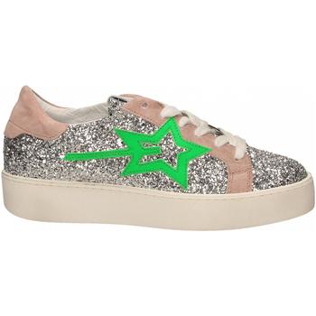 Schuhe Damen Sneaker Low Gio+ + LEILA GLITTER argento-verde