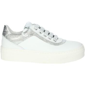 Schuhe Mädchen Sneaker Low Le Petit Bijou 6430LPB Weiss/Silber