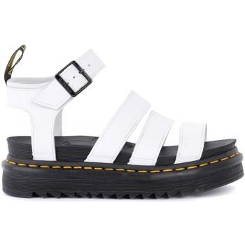 Schuhe Damen Sandalen / Sandaletten Dr Martens Sandaletten Blaire in Leder Weiss Weiss