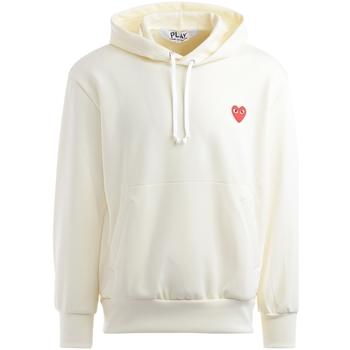 Kleidung Herren Sweatshirts Comme Des Garcons Comme Des Garçons Sweatshirt Play in Elfenbeinfarbe mit Weiss