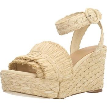 Schuhe Damen Leinen-Pantoletten mit gefloch Paloma Barcelò FLAVIA Brown