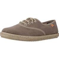 Schuhe Jungen Leinen-Pantoletten mit gefloch Vulladi 7354 558 Brown