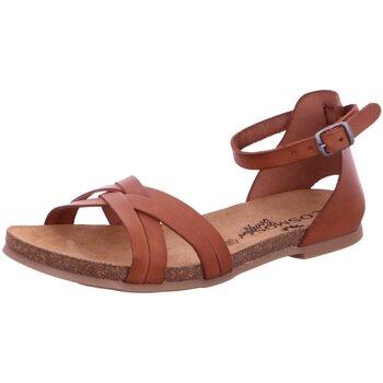Schuhe Damen Sandalen / Sandaletten Mustang Sandaletten Sandalette bis 30mm Absatz 6106804-30 braun