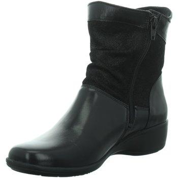 Schuhe Damen Low Boots Longo Stiefeletten Beq.Schnür/Schlupfstf 1013211 schwarz