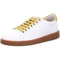 Schuhe Damen Derby-Schuhe Blackstone Schnuerschuhe RL84 wei? kombi RL84 Oily Yellow weiß