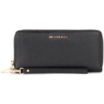 Taschen Damen Portemonnaie MICHAEL Michael Kors Portemonnaie mit Armschlaufe Continental in Leder Schwarz Schwarz