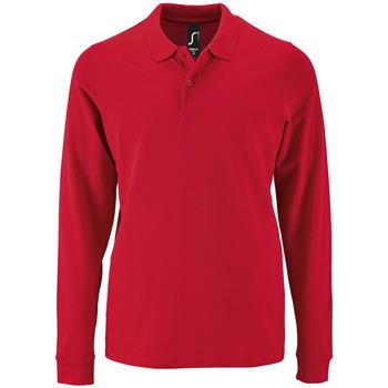 Kleidung Herren Langärmelige Polohemden Sols PERFECT LSL COLORS MEN Rojo