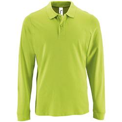 Kleidung Herren Langärmelige Polohemden Sols PERFECT LSL COLORS MEN Verde