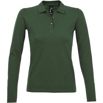 Kleidung Damen Langärmelige Polohemden Sols PERFECT LSL COLORS WOMEN Verde