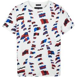 Kleidung Jungen T-Shirts Tommy Hilfiger Kids AOP TEE rot