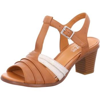 Schuhe Damen Sandalen / Sandaletten Regarde Le Ciel Sandaletten zaida 02 cognac braun