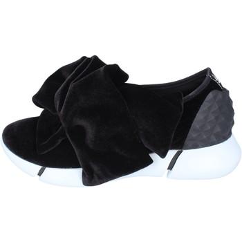 Schuhe Damen Slip on Elena Iachi slip on samt schwarz