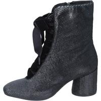 Schuhe Damen Low Boots Elvio Zanon stiefeletten textil schwarz
