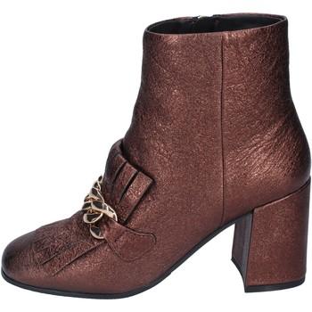 Schuhe Damen Low Boots Elvio Zanon stiefeletten leder braun