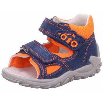 Schuhe Jungen Sportliche Sandalen Superfit 8 09011 81 Flow Jungen Lauflernsandale Blau - Orange Blau